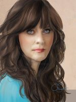 Zooey Deschanel by iloovedoggies