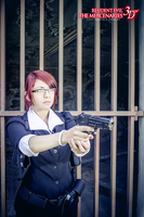 Claire Redfield  - RE M3D suit cosplay by Vicky-Redfield