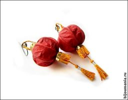 "Earrings ""Chinese lanterns"" 2 by allim-lip"