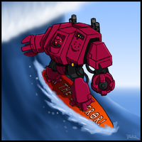 Even in death I still surf by Blazbaros