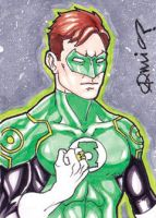 Justice League: War Green Lantern ACEO by micQuestion