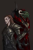 Commission: Vilanah and Keel-Ra by Banished-shadow