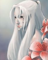Masatori and Red Lilies by surrealgreen