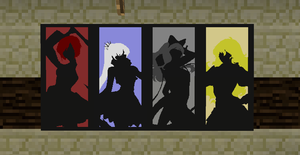 RWBY Silhouettes - Minecraft Posters by StuntMan9630
