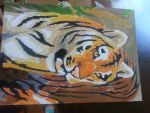 Paint by number : Tiger by highkickfan
