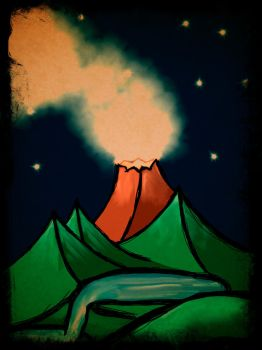 Volcano Fall by Creativecodes