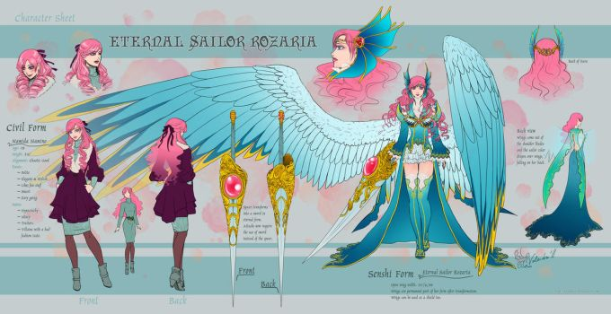 Character Sheet::Eternal Sailor Rozaria by Valendra