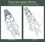 Girl In Chair Before & After Meme by MangaErudite