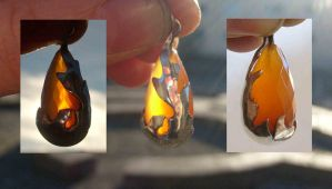 Fire element pendant by fairyfrog