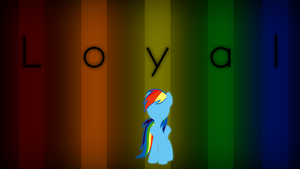 Rainbow Dash Loyal Wallpaper by Qutiix