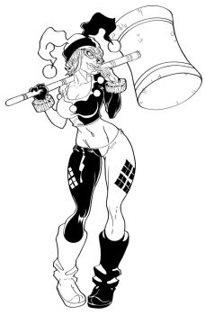 Harley Quinn - Inks by TracyWong