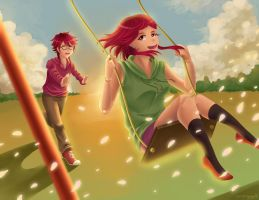 By the swing by jellytaro