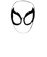 Ultimate Spider-Man Face drawing (unedited) by SamSpideyCool