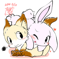 fox and bunny by kMart0614