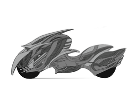 motorcycle sketch by ruxi