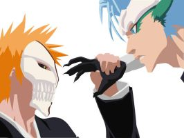 Ichigo vs. Grimmjow by aprik9se