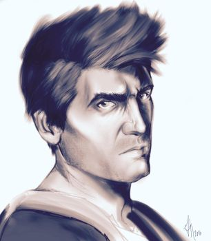 Nathan Drake painting by GearsGirl6295