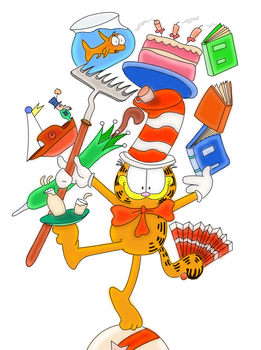 Garfield in the Hat by shardsofnarsil