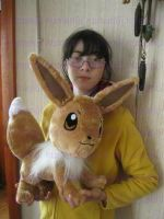evee plush real size handmade by chocoloverx3