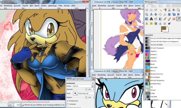 preview for my next three arts by Pichu-Chan