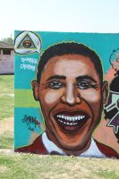 obama painting by chromers by chromers-art