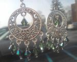 Green Glamour Earrings by CorterMoon