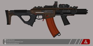 Quicksilver Industries: 'Scorpion' Assault Rifle by Shockwave9001