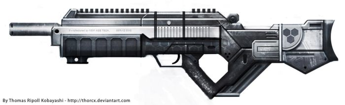 Gun concept : New Age SSR-12 by ThoRCX