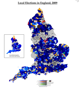 Local Elections in England, 2009 by AJRElectionMaps