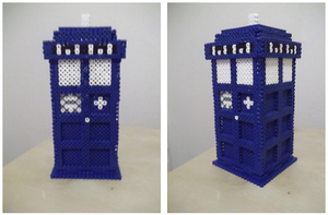 Tardis made of fuse beads by capricornc5