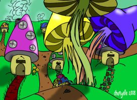 Shroom Village For alysin-hope by Dhanyelle
