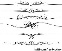 Photoshop brushes: Divaders by kakiii