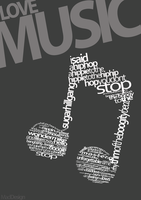 Love Music Typography by MadDesign