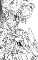 TRANSFORMERS . pencils by thekidKaos