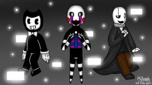 The Trio of Black and White (Crossover) by MaisarahMazlun