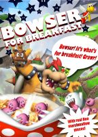 BOWSER IS WHATS FOR BREAKFAST by kingcael
