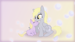 Derpy and Dinky WP by Zedrin