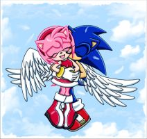 SonAmy: Wings Of Love by ArisuAmyFan