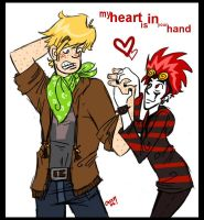 my heart is in your hand. by Cassquet