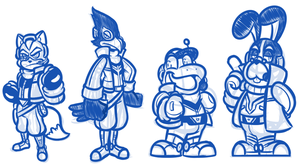 Star Fox Sketches by JamesmanTheRegenold