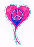 love and peace by c0ldh3art3d