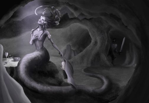 Medusa's suicide by aniamarcos