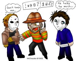Jason Michael and Freddy by inkchocobo