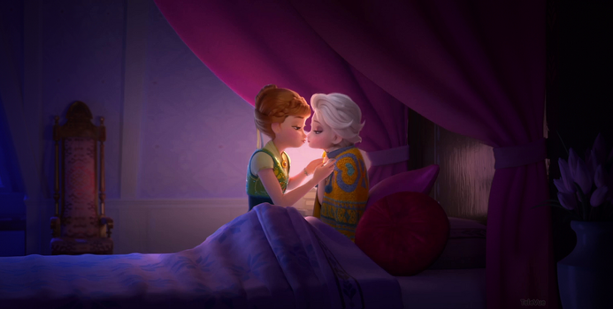 Frozen Fever Kiss by TeleVue