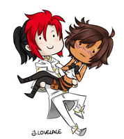Comm: Lance and Cassie by JutaWi