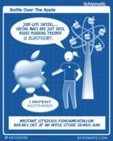 Battle Over The Apple by schizmatic