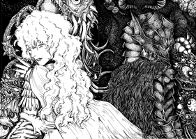 Guts and Griffith by envoysoldier