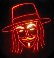 V For Vendetta Pumpkin 2010 by mediaklepto