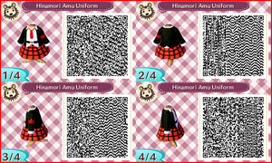~Animal Crossing~ QR Codes - Hinamori Amu Uniform by sakurablossom143