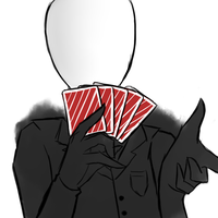 Slender pokerface by MrLudwigBeilschmidt